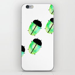 Emerald Beetles March iPhone Skin