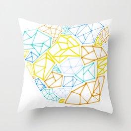 Diamond Smarties Throw Pillow