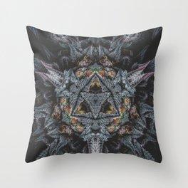 Purple Black Lime Throw Pillow