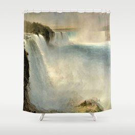 Niagara Falls from the American Side by Frederic Irwin Church Shower Curtain