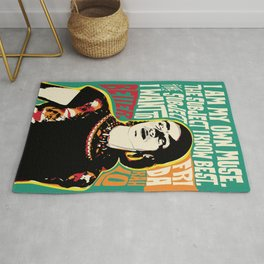 Frida Kahlo Pop Art Quote Portrait , art, print, poster, inspirational quotes, celebrities, Quote, Pop-art Poster, Pop art, pictures, gift Rug
