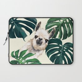 Sneaky Llama with Monstera Laptop Sleeve