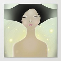 women Canvas Prints featuring women by wit_art
