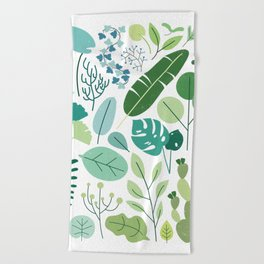 Botanical Chart Beach Towel