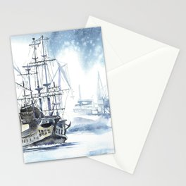 Harbour in Gdynia Stationery Cards