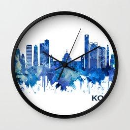Kolkata West Bengal Skyline Blue Wall Clock