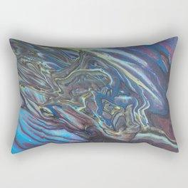 Oil Slick Flow - Acrylic Pour Original Painting Art Rectangular Pillow