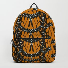 Monarch Butterfly Wings Abstract Patterned Print Backpack