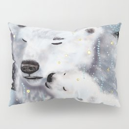 Mom and Baby // Winter polar bears  Pillow Sham