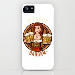 Funny Oktoberfest Dirndl - Beer Drinking T-Shirt iPhone Case