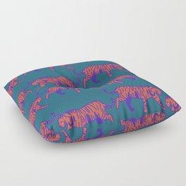 wild tigers pattern 2 Floor Pillow