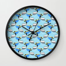 Pelican pattern Wall Clock