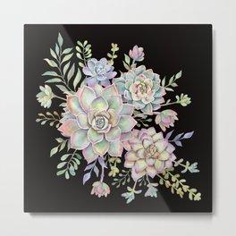 Watercolor Succulents #78 Metal Print