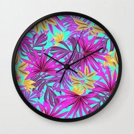 Tropical Pattern Wall Clock