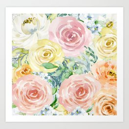Botanical Pastel Beauty Art Print