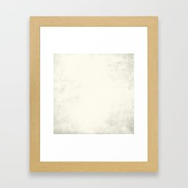Tribal Ivory Cream Framed Art Print