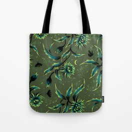 Queen of the Night - Green Tote Bag