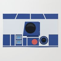 boob Area & Throw Rugs featuring R2-D2 by dudsbessa