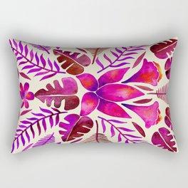 Tropical Symmetry – Magenta Rectangular Pillow