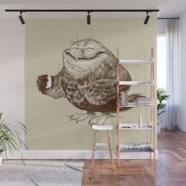 Owl needs Coffee Wall Mural