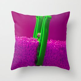 Psychedillypinkpeg Throw Pillow