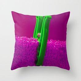 Psychedillypinkpeg Throw Pillow