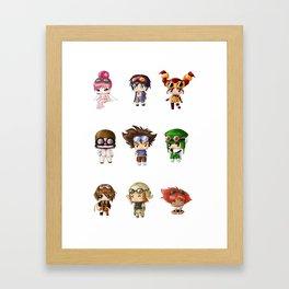 Chibi Goggles Framed Art Print