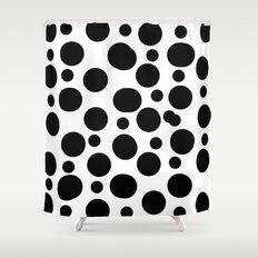 Black spots Shower Curtain