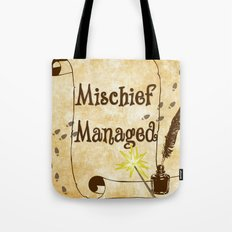 Mischief Managed Harry Potter Marauder's Map  Tote Bag
