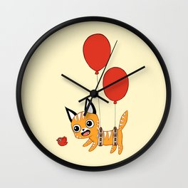 Balloon Cat Wall Clock