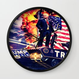 Trump Tank Wall Clock