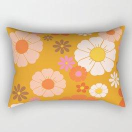 Groovy Mod 60's Flower Power Rectangular Pillow