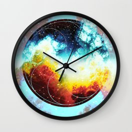 nebula borning Wall Clock