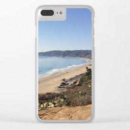 Malibu, California - Coastline Clear iPhone Case
