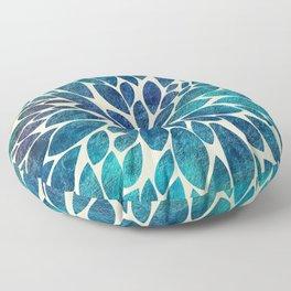 Petal Burst - Turquoise Floor Pillow