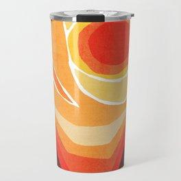 Modern Mid-Century Desert Sunset Travel Mug