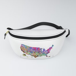 Map of USA Fanny Pack