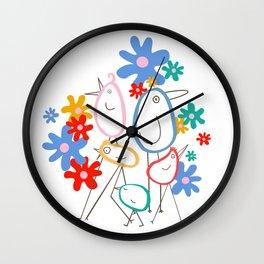 STRUT Spot Illustration Wall Clock