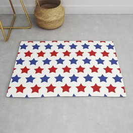 Red and Blue Stars Rug