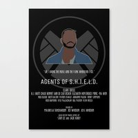 agents of shield Canvas Prints featuring Agents of S.H.I.E.L.D. - Trip by MacGuffin Designs