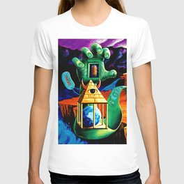 Trippy Psychedeic Surreal Art by VIncent Monao - The Practical Deception T-shirt