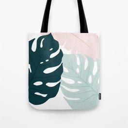 Minimal Monsteras Tote Bag
