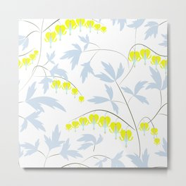 Floral pattern in yellow, blue, bright tone . Metal Print
