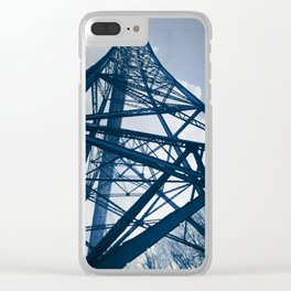 Steel Tower Clear iPhone Case