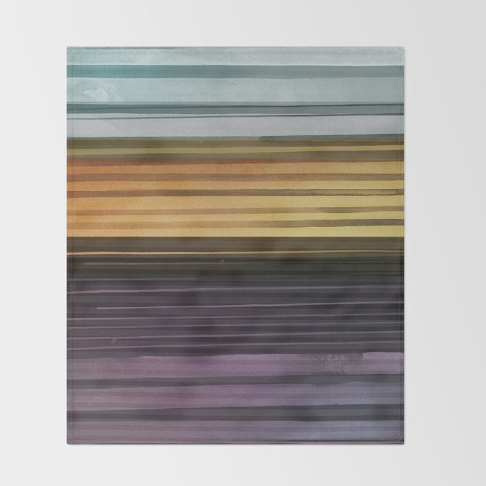 Amanda Wants Stripes Throw Blanket