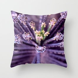 Purple Euphorbia in Detail Throw Pillow