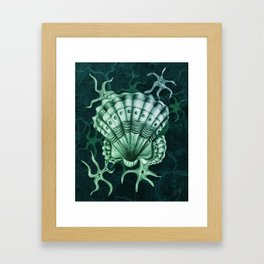 Dystopian Cockle - Lambent Green Framed Art Print