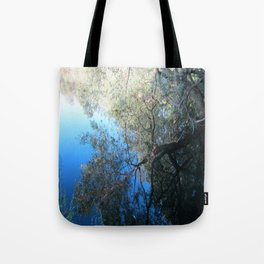 Abstract Nature in Blue Tote Bag