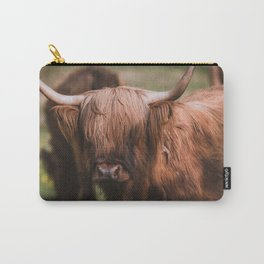 Curious Highland Cow Carry-All Pouch