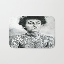 Inked Victorian Lady Bath Mat